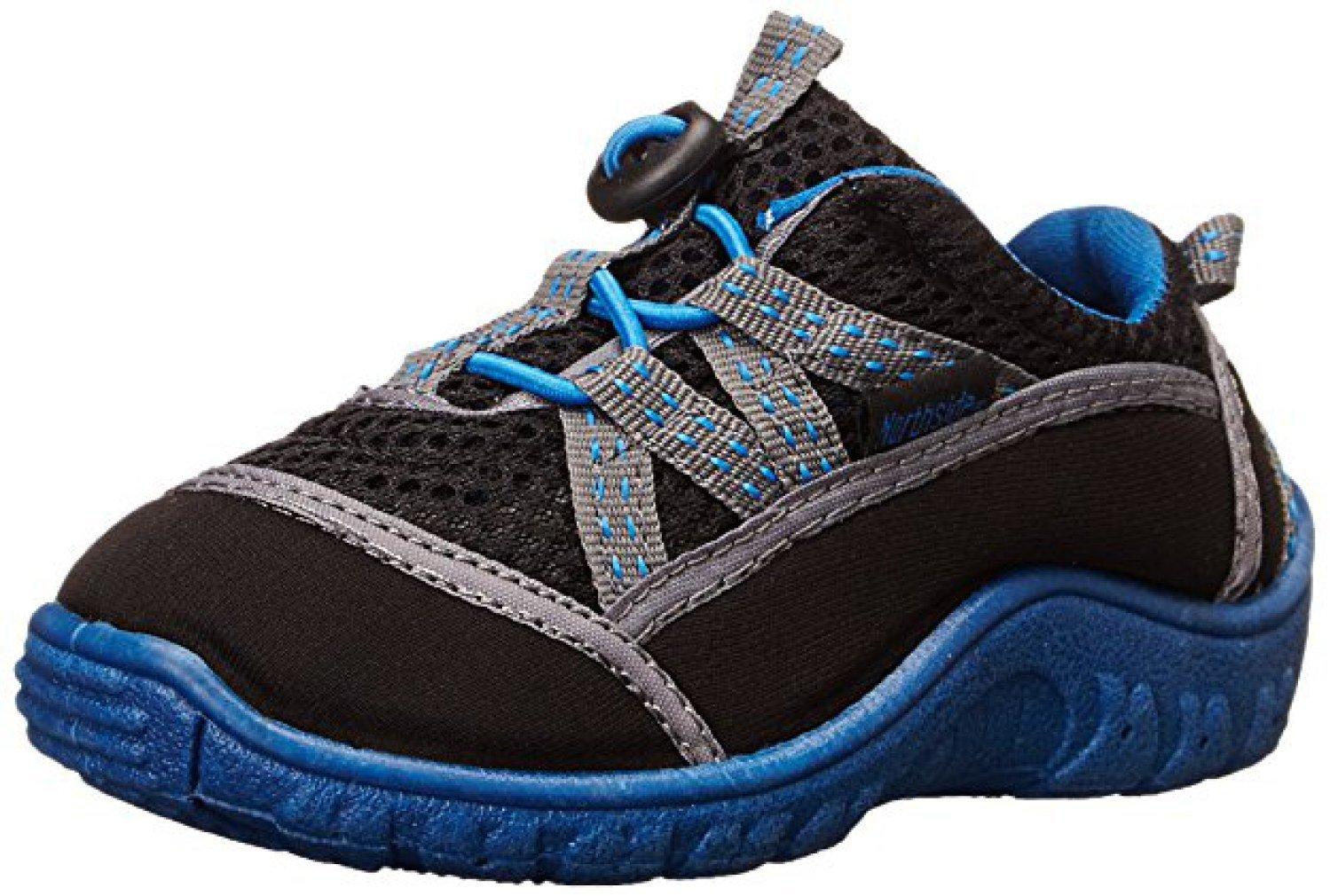 Northside Kid's Brille II Summer Water Shoe, Black/Blue, 7 M US Toddler; with a Waterproof Wet Dry Bag