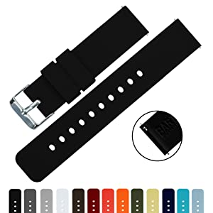 BARTON Silicone Quick Release - Choose Colour & Width (16mm, 18mm, 20mm or 22mm) - Soft Rubber Watch Bands