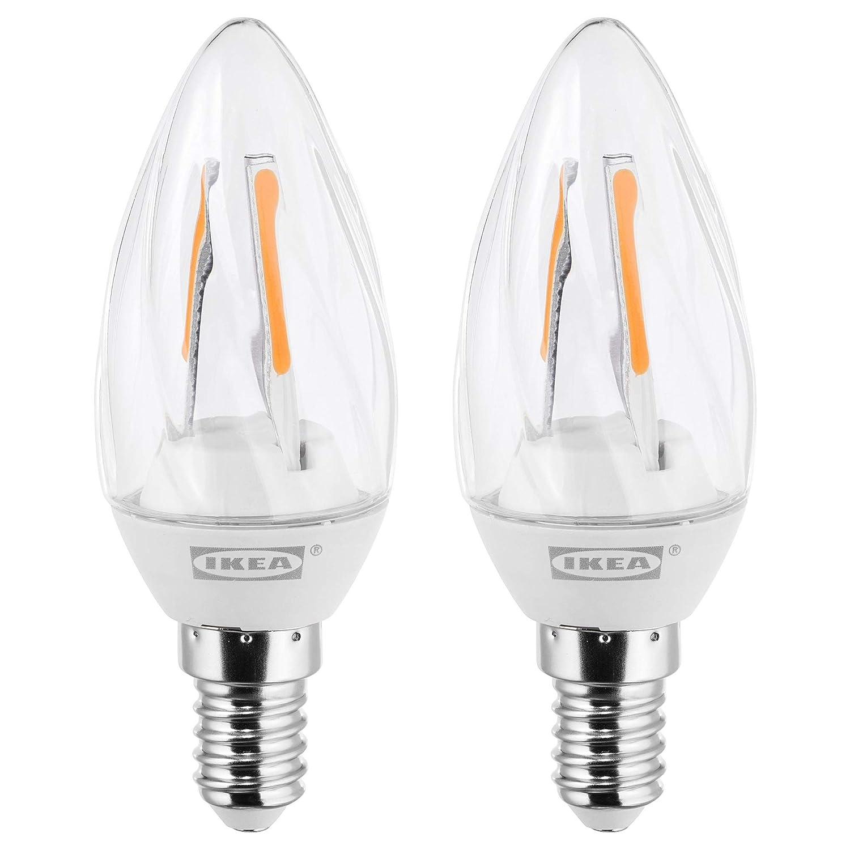 IKEA RYET E14 - Bombillas de filamento LED transparentes de 200 lúmenes, 2 unidades: Amazon.es: Iluminación