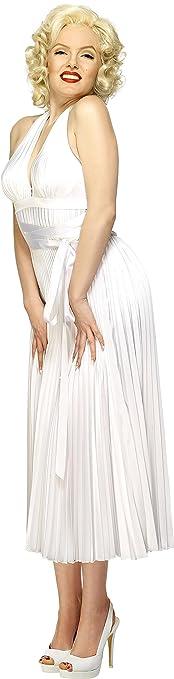 Smiffy&-39-s Women&-39-s Marilyn Monroe Classic Costume- Halterneck Dress ...