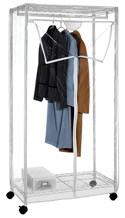 Superbe Whitmor Supreme Clothes Closet With Clear Cover