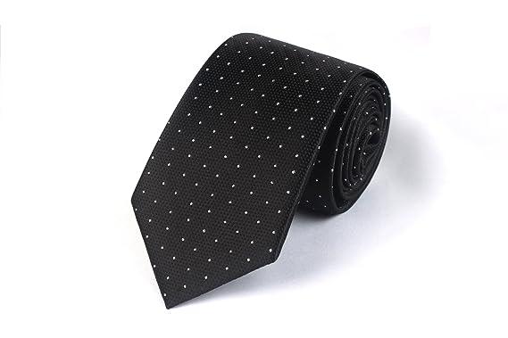 Chris Vu, preciosa corbata estructurada en negro con puntos ...