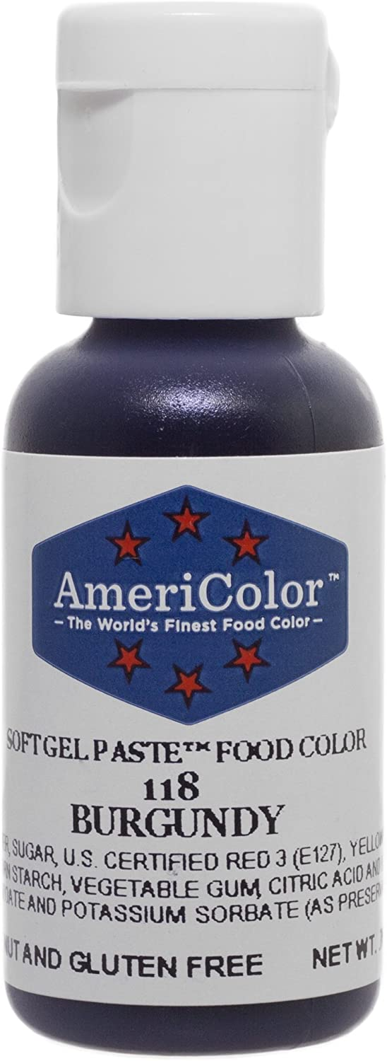 Americolor Soft Gel Paste .75 oz Burgundy Color