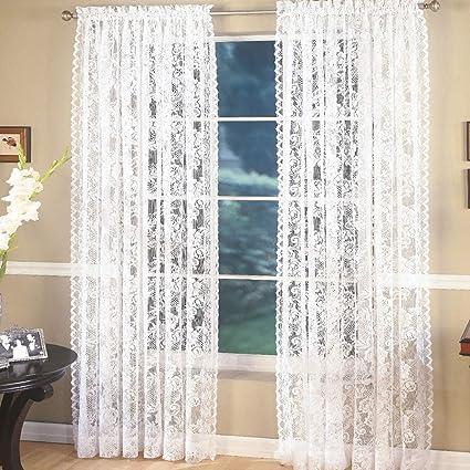 f8672b62767 Amazon.com  2pc Lace Door Window Curtain Background