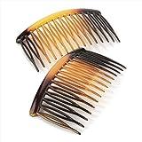 Two Piece Black Sprung Teeth Hair Comb Sets 8cm