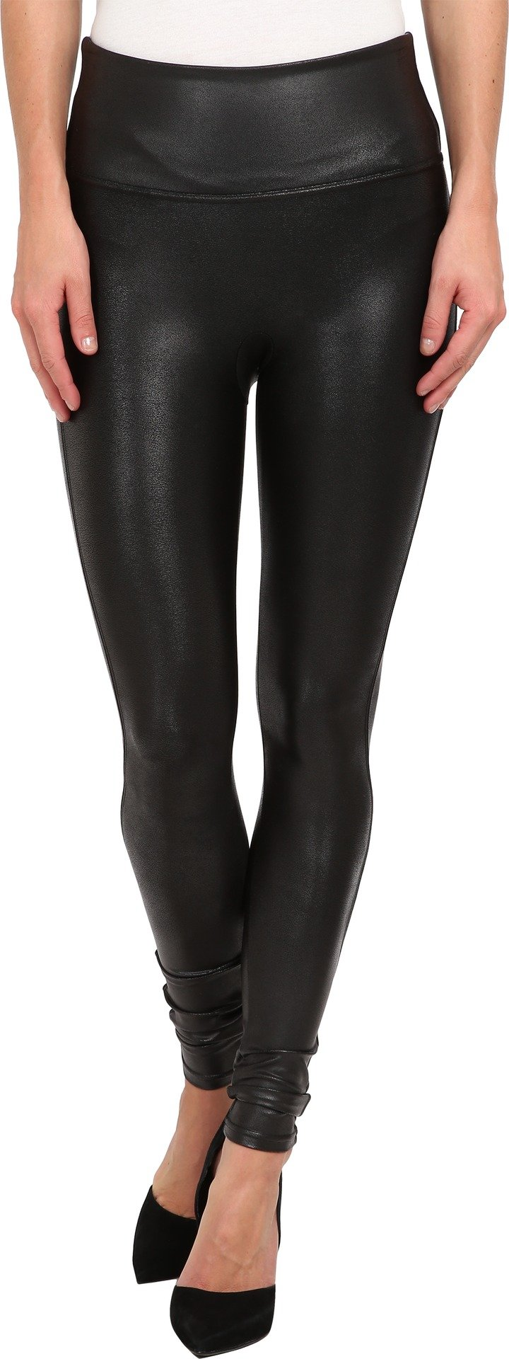 Spanx Women's Ready-to-Wow!? Faux Leather Leggings Black MD X 30 by SPANX