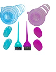 High Quality Material 2-Pack Hair Color Kit, Hair Color Brush, Ear caps and Mixing Bowl with Long Handle, Brush Comb and Brush Holder