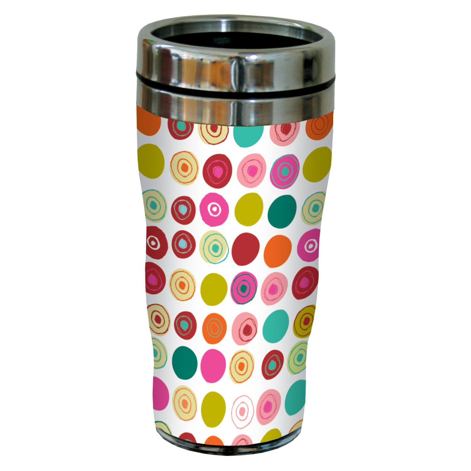16-Ounce Tree-Free Greetings sg23493 Contemporary Spots Pattern by Carolyn Gavin Sip N Go Stainless Steel Tumbler