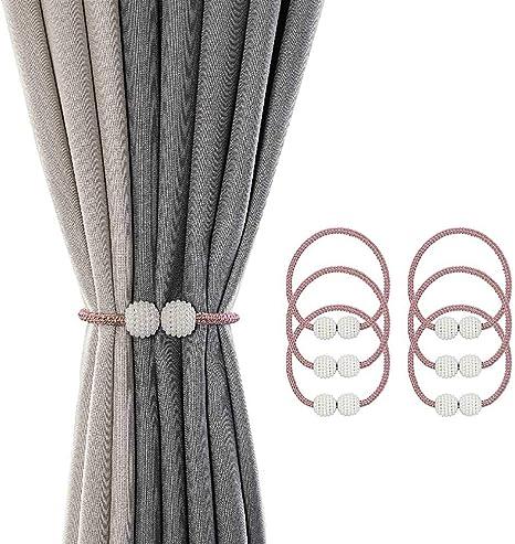 6pcs Curtain Holder Hooks Drapery Holdback Tiebacks for Wall Decoration 2pcs