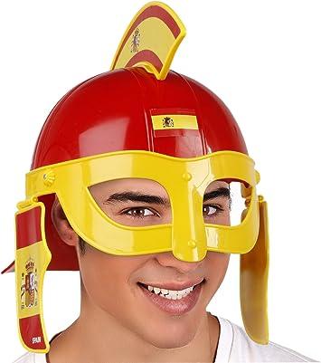 Atosa-24443 Atosa-24443-Casco Soldado Espartano España-Mundial De Fútbol Y Deportes, Color Rojo y Amarillo (24443): Amazon.es: Juguetes y juegos