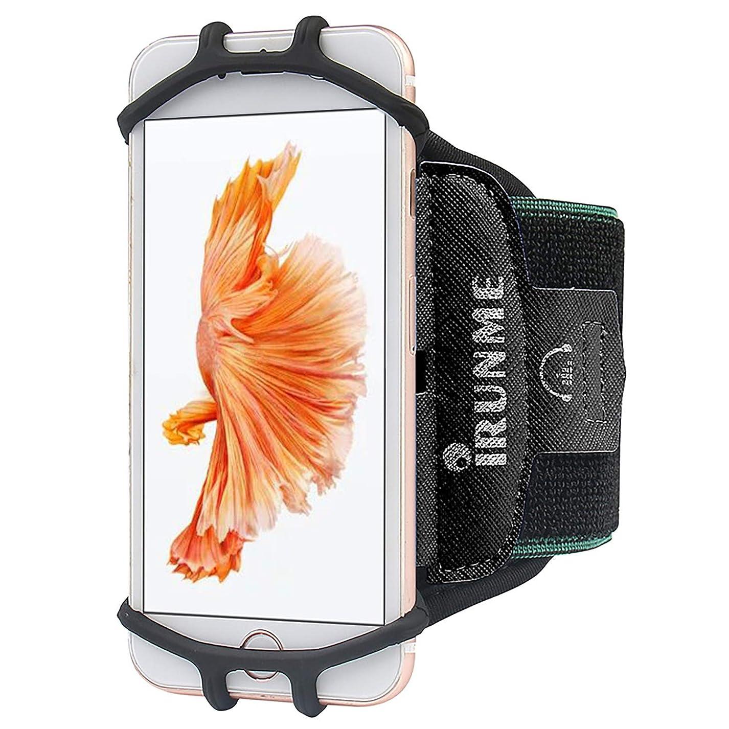 浸食負荷デマンド高品質なスマホ アームバンド スポーツアームバンド 180°回転式 高弾力/防汗/軽量/男女共用 リストバンド 作業 釣り 自転バイク 運転 使いやすい3.5~6インチのスマホiPhone、Sharp、Samsung、Xperia、AQUOS、Arrows、Sonyなど多機種に対応 プレゼント最適(ブラック)