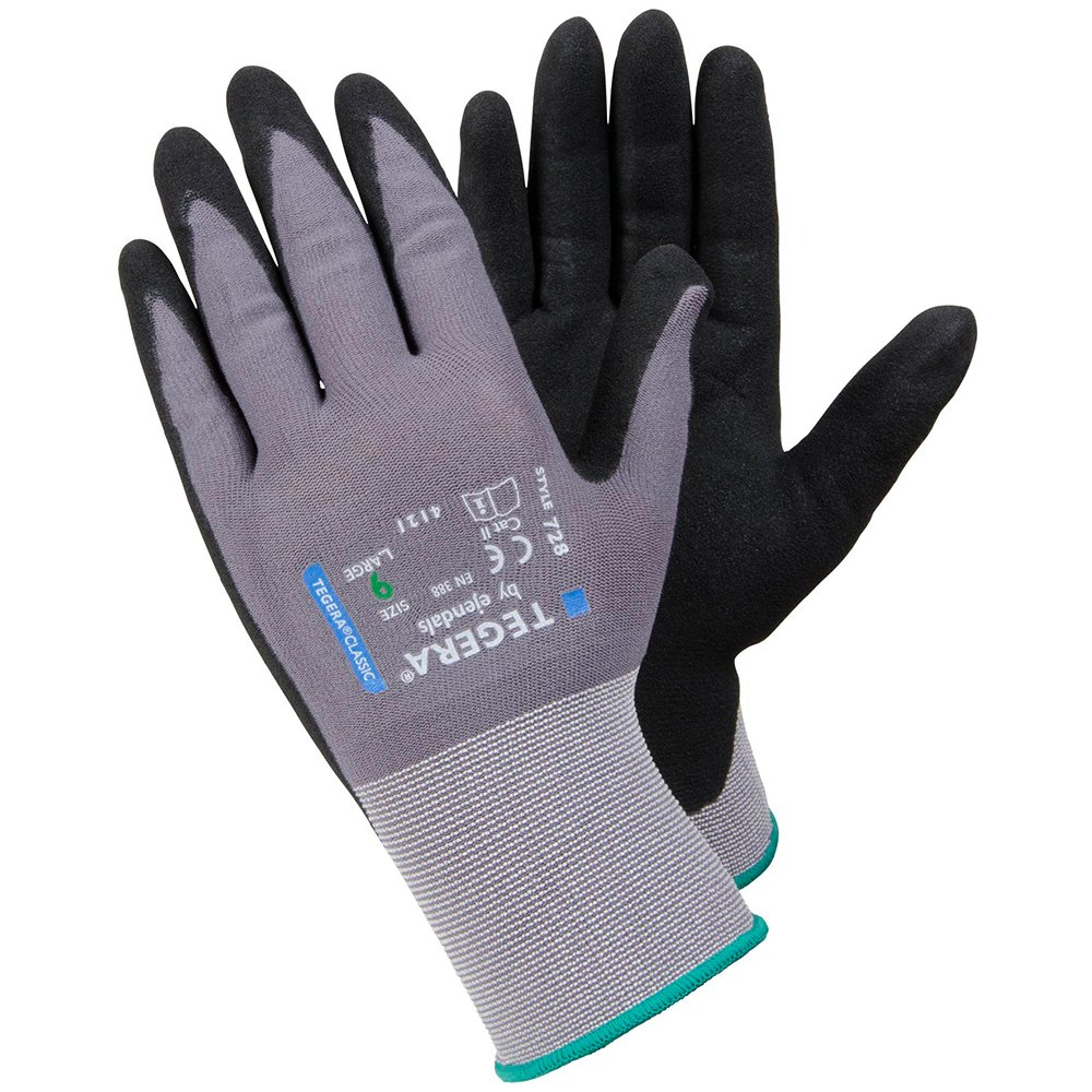 Ejendals 728-9 Size 9' Tegera 728' Synthetic Glove - Black/Grey