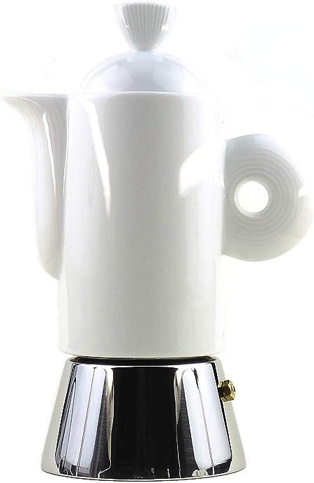 Saller Darling Italiano Espresso eléctrica de acero inoxidable y porcelana blanca/Fabricado en Italia., 2 tazas: Amazon.es: Hogar