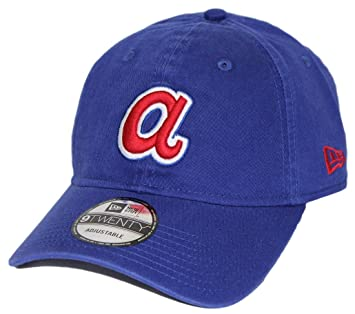 new style 0c0b7 65876 ... promo code for atlanta braves new era mlb 9twenty cooperstown adjustable  hat blue 3cf9b 72036 ...