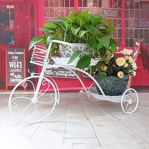 AIWO-PQ Soporte de Flores Metal Bicicleta Jardín Planta Maceta ...
