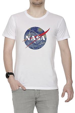 Erido NASA Starry Night Homme T-Shirt Cou D équipage Blanc Manches Courtes  Toutes Les Tailles Men s White  Amazon.fr  Vêtements et accessoires 7ae9e43e2