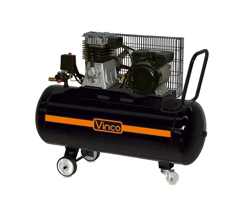60604 Compresor de correa 100 LT VINCO monofasico 8bar 250 l/m: Amazon.es: Bricolaje y herramientas