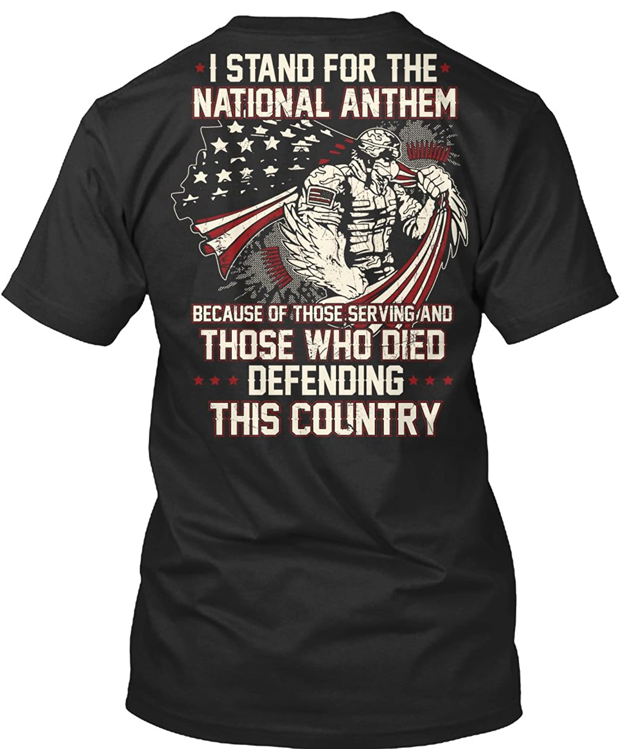 d176be07ed9 Teespring Unisex Veteran- I Stand For The National Anthem BELLA+CANVAS  Premium Jersey V