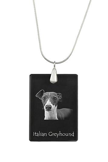 ArtDog Ltd. Galgo Italiano, Colgante de Cristal para Perro ...