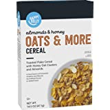 Amazon Brand - Happy Belly Oats & More Cereal, Almonds & Honey, 14.5 Ounce