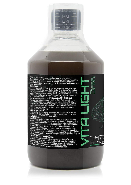 Drenaje natural VITA LIGHT | Desintoxicación (Detox) 500ml | Suplemento Purificante a base de abedul, ortosifón, ortiga verde, cola de caballo, ...