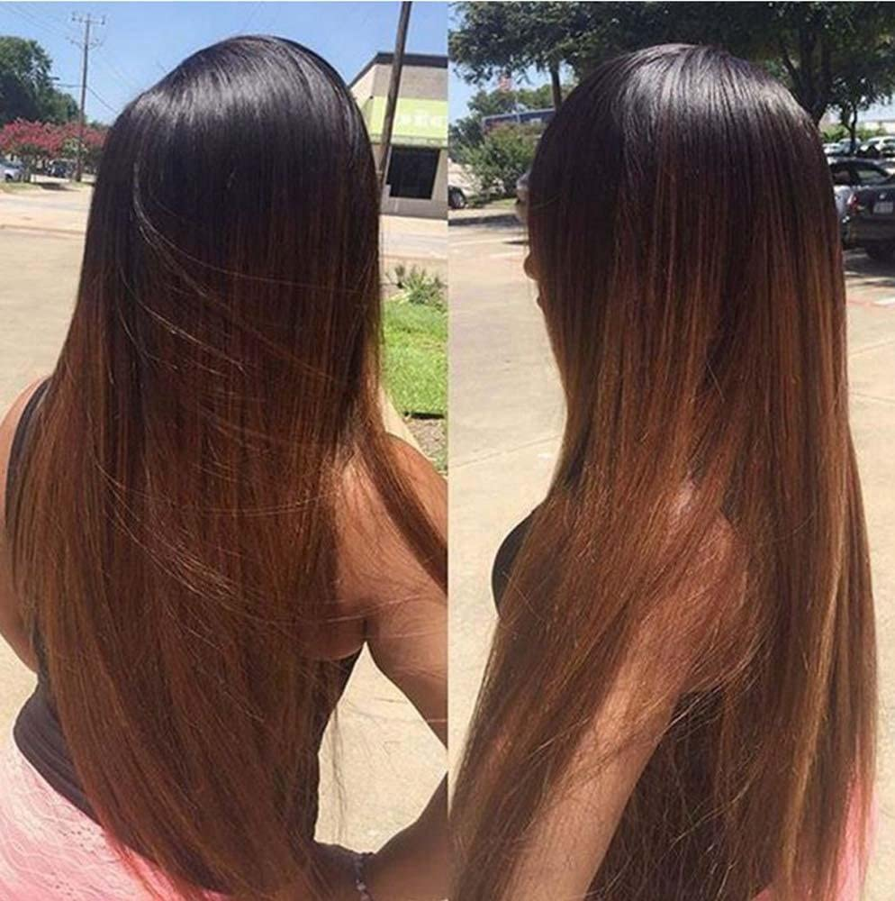 MZP T color straight hair before the chemical fiber lace wig hood ...