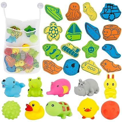 Perfecto para jugar y aprender. 26 Letras del Alfabeto en espuma de Colores Brillantes 100 Juguetes de Ba/ño y ba/ñera Adecuados para Ni/ños y Beb/és