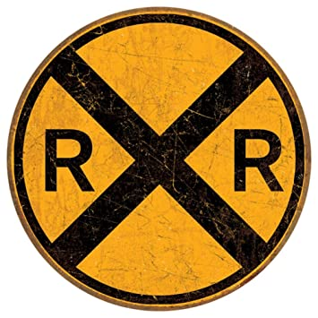 Image result for railroad crossing sign