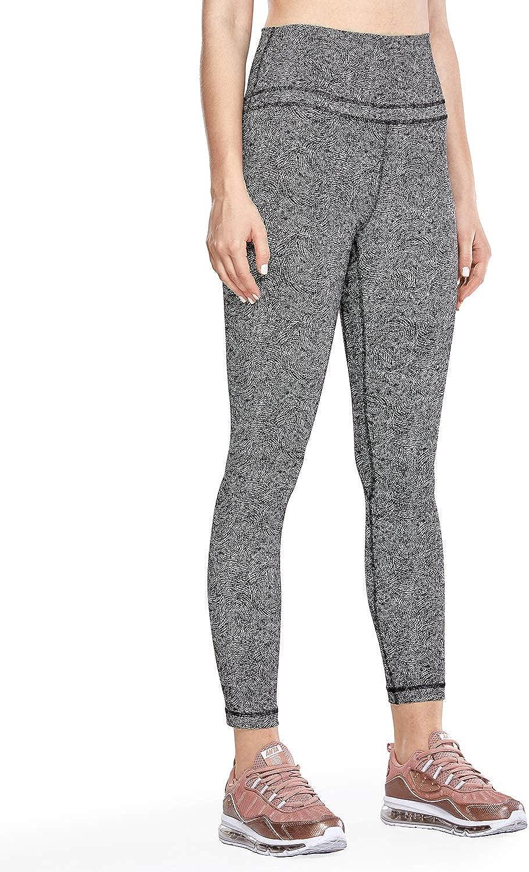 CRZ YOGA Donna Vita Alta Yoga Fitness Spandex Palestra Pantaloni Sportivi 7//8 Leggins con Tasche-63cm