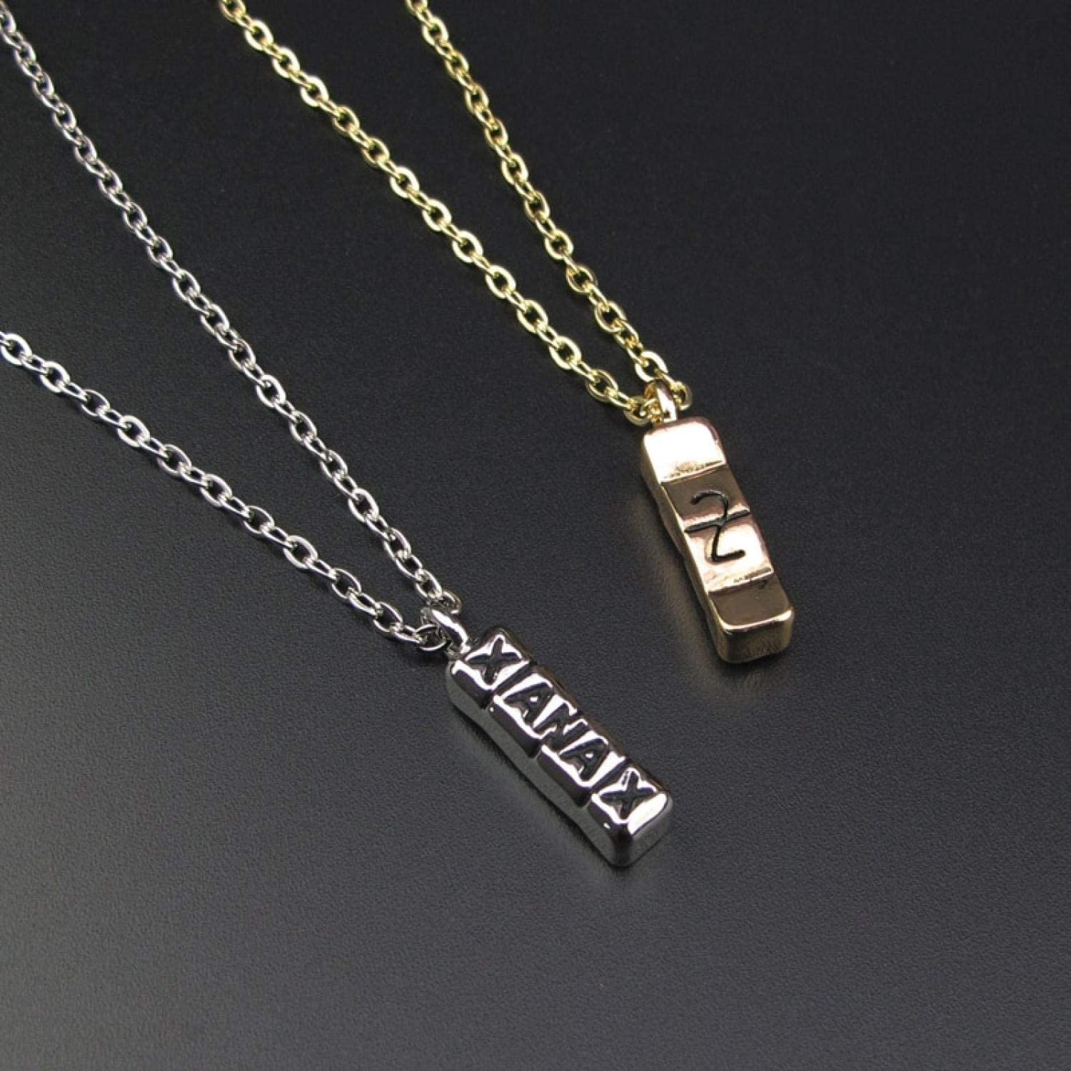 Georgia Yules Hiphop Silver Gold Cool Xanax Pill Necklace Bar Pendant Letter Necklace Pill Drug Chain Party Pendant Necklace Collier
