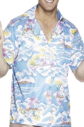Smiffys Adultos Fancy Disfraz de Fiesta Luau Hawaiano Camisa para Hombre Playa Party Camisas: Amazon.es: Ropa y accesorios