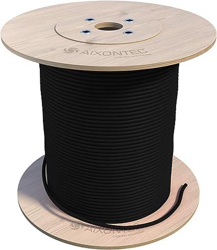 Aixontec Cat 7 300m Erdkabel Outdoor Kabel Schwarz S Ftp Pimf Kat 7 Lan Ethernet Installation Netzwerk Kabel Awg23 1 Mit Pe Außenmantel Uv Beständig Verlegung Außenbereich Und In Der Erde Musikinstrumente