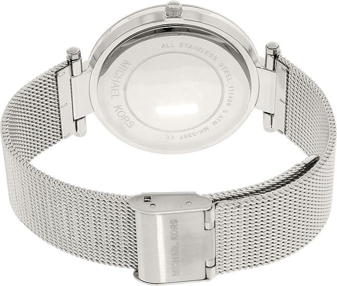 f26d3cfbfbca Amazon.com  MICHAEL KORS MK3367 MESH STAINLESS DARCI MK3367  Michael Kors   Watches