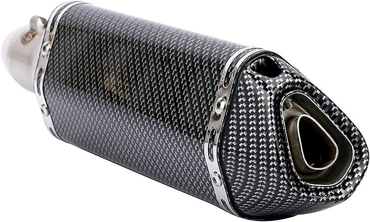 /pour Street Sport Dirt Bike ATV Quad Amovible pour v/éhicule Hwbnde Universel 38 2/pour Moto Scooter Silencieux D/Échappement Tuyau/ 51/mm 1,5 /Fibre de Carbone et Acier Inoxydable/