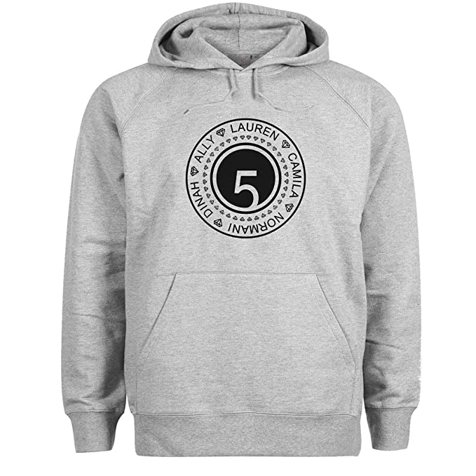 Fifth Harmony Fun Logo X Factors Top Group Gris Sudadera con Capucha Unisex Medium: Amazon.es: Ropa y accesorios