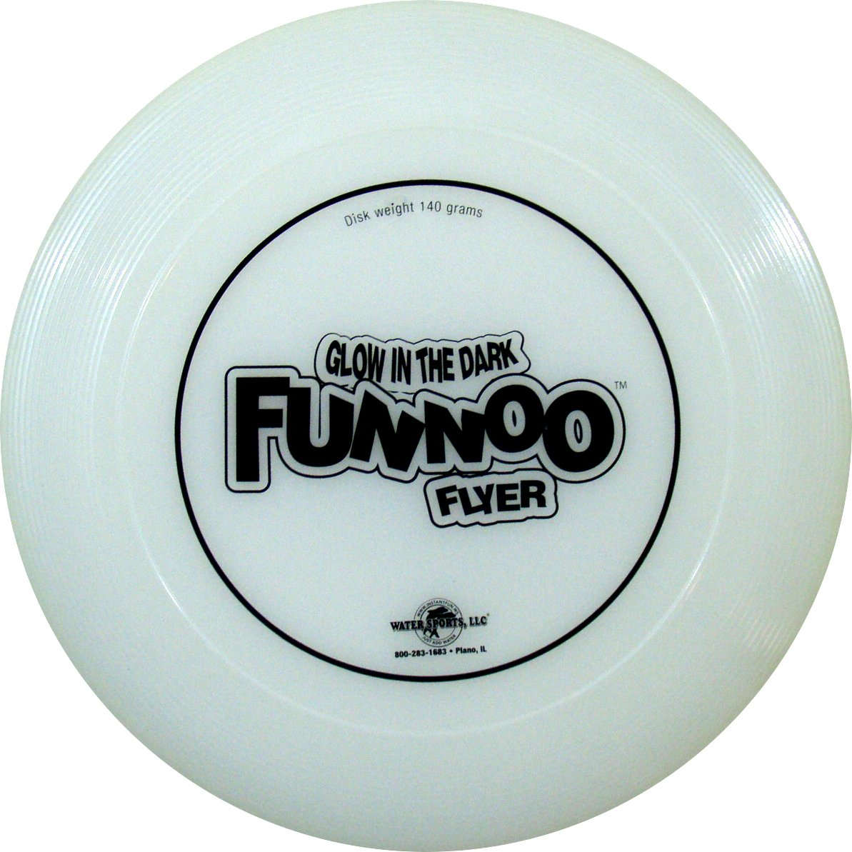 Water Sports Glow FUNNOO Flyer Glow in Dark Flying Disc 140 Gram Disk by Water Sports