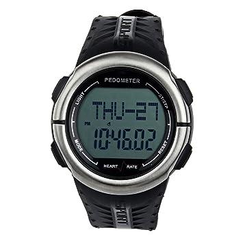 Reloj Pulsometro Podometro Cronometro Ritmo Cardiaco Calorias 3D Running Ciclismo Deporte ER 4248: Amazon.es: Deportes y aire libre