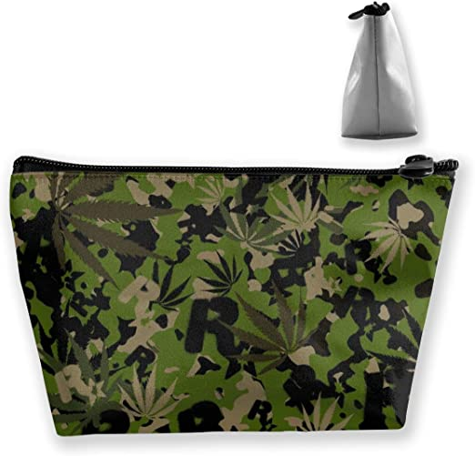 Green Camouflage Multifunction Portable Pouch Trapezoidal Storage Toiletry Bag