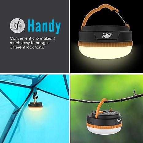 Rhino Valley LED Camping Lámpara, Ultra Brillante 180 Lúmenes Recargable Portátil y Emergencia Lantern con 5-Nivel Brightness Ideales para Jardines, Patios, ...