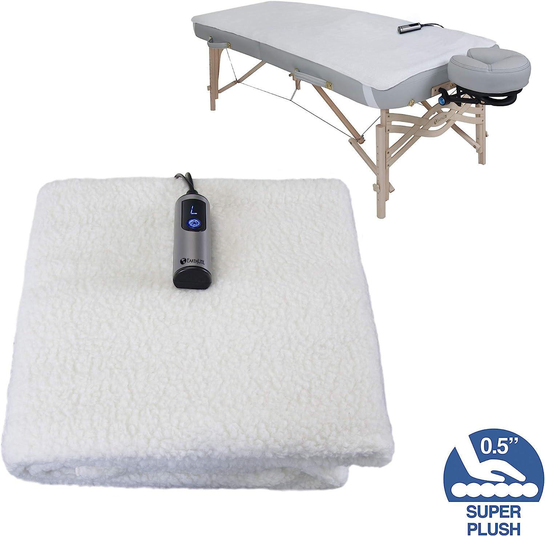 "EARTHLITE Massage Table Warmer & Fleece Pad (2 in 1) - 3 Heat Settings, Cozy 0.5"" Fleece - Updated Controller (30 x 72): Health & Personal Care"