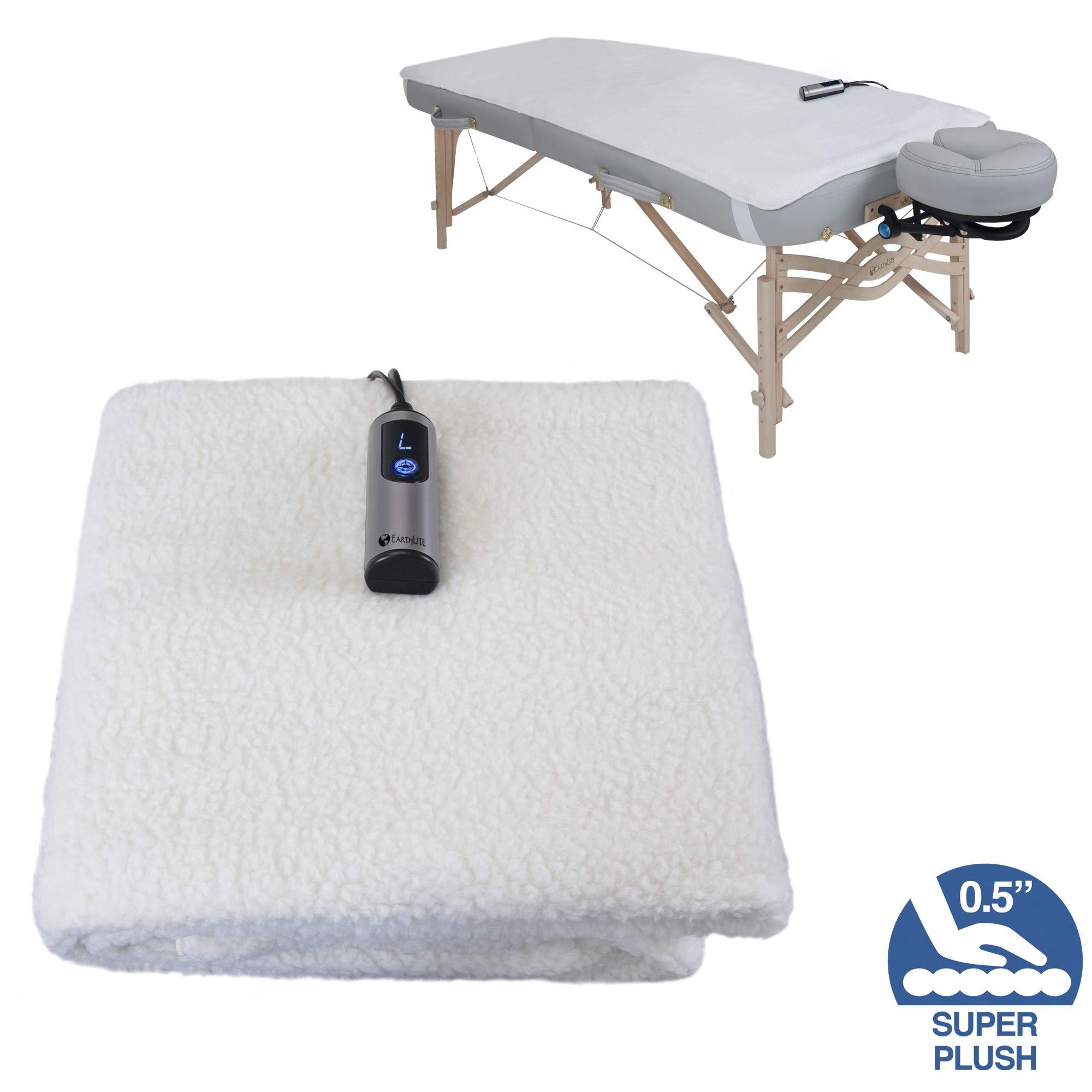 EARTHLITE Massage Table Warmer & Fleece Pad (2 in 1) - 3 Heat Settings, Cozy 0.5'' Fleece - Updated Controller (30 x 72) by EARTHLITE
