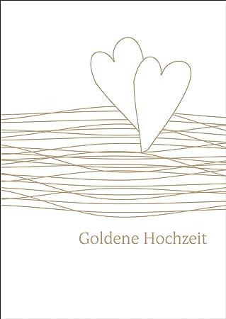 Elegante Glückwunschkarte Mit Herzen Zur Goldenen Hochzeit