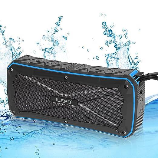 33 opinioni per iLepo Wireless Cassa Bluetooth bk4.1 Impermeabile IP66. Power Bank da 4500 mah