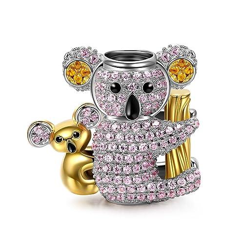 NinaQueen – Baby Koala – Damen-Charm 925 Sterling Silber (Fröhliche Familie Serie)