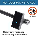 H.VERSAILTEX Magnetic Curtain Rods Adjustable