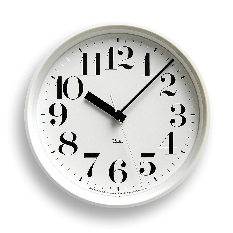 Lemnos RIKI STEEL CLOCK 電波時計 ホワイト WR08-24 WH B002BIE0VO ホワイト WR08-24 ホワイト