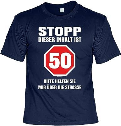 Geschenke Idee 50 Geburtstag Herren T Shirt Stopp Dieser Inhalt Ist