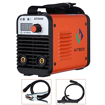 Dual Volt ARC Welding Machine Rod Stick 110/220V Mini Portable Inverter Welder AT2000 HITBOX - - Amazon.com
