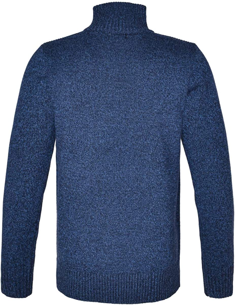 FEINION Mens Stand Collar Sweater Quarter Zip Casual Knitted Pullover Sweater