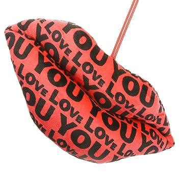 Ghasitaram Gifts Teddies Velvet Pillow -Lips